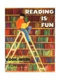 Reading Is Fun Poster Giclee Print by Roger Duvoisin