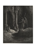 Before the Gates There Sat on Either Side a Formidable Shape Giclee Print by Gustave Doré