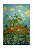 Lilies, Purple and Yellow Irises Giclee Print by Paul Ranson