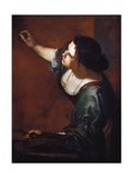 Self-Portrait as the Allegory of Painting Giclee Print by Artemisia Gentileschi