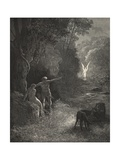 Eastward Among Those Trees, What Glorious Shape Comes This Way Moving Giclee Print by Gustave Doré