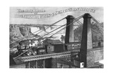 The Only Route to Niagara Falls and Suspension Bridge Giclee Print