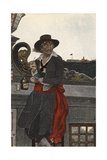 Kidd on the Deck of the Adventure Galley Giclee Print by Howard Pyle