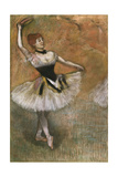 Dancer with a Tambourine Giclee Print by Edgar Degas