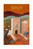 Spain Poster Giclée-tryk af Bernard Villemot