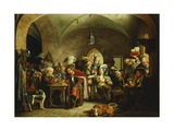 Soldiers in the Keep of a Castle Giclee Print by Martinus Rorbye