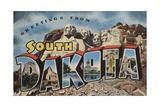 Greetings from South Dakota Postcard Giclee Print
