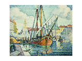 The Port of St. Tropez Giclee Print by Paul Signac