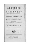 "Title Page Woodcut of the ""Articles of Agreement...Maryland and Pensilvania"" Giclee Print by Benjamin Franklin"