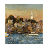 October Sundown, Newport Giclee Print by Childe Hassam