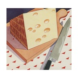 Illustration of Swiss Cheese Giclee Print