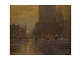 Madison Square, Rainy Night Giclee Print by Lovell Birge Harrison