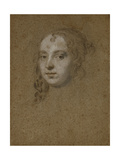 Portrait Head of a Lady Giclee Print by Peter Lely