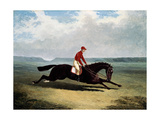 The Baron with Bumpy Up, at Newmarket Giclee Print by Sr, John Frederick Herring