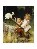 The Seesaw Giclee Print by Arthur John Elsley