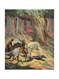 The Hunt in the Odenwald Giclee Print by Peter Hurd