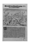 Group of Cannibal Indians Dismembering and Cooking Captives Giclee Print by Theodor de Bry