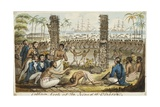 Captain Cook at the Island of Otaheite Giclee Print by Isaac Robert Cruikshank