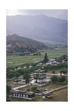 Queen's Palace, Bhutan Valley View Giclee Print