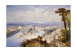 Rouen from St. Catherine's Hill Giclee Print by Thomas Charles Leeson Rowbotham