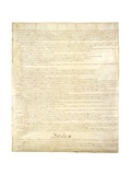 Page Two of the Constitution of the United States Giclee Print
