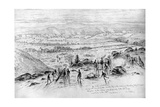 The Battle of Gettysburg - View from the Summit of Little Round Top on the Evening of July 2, 1863 Giclee Print by Edwin Forbes