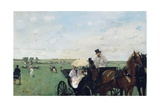 At the Races in the Countryside Giclee Print by Edgar Degas