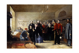 Queen Victoria's First Visit to Her Wounded Soldiers Giclee Print by Jerry Barrett