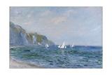 Klipper og seilbåter ved Pourville Giclée-trykk av Claude Monet