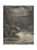 And Seems a Moving Land; and at His Gills Draws In, and at His Trunk Spouts Out, a Sea Giclee Print by Gustave Doré