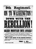 Civil War Poster Seeking Vermont 9th Infantry Recruits Giclee Print