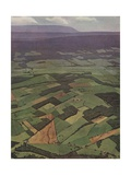 Illustration of Pennsylvania Farmlands Giclee Print