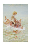 Riding Sea Monsters Giclee Print by Hector Caffieri