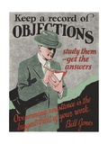 Keep a Record of Objections Giclee Print