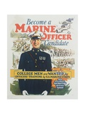 Become a Marine Officer Candidate Poster Giclee Print by Arthur N. Edrop