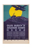 Our Navy's Aviation Corps Needs Giclee Print by Harold Von Schmidt