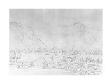 Engraving of a Pawnee Village after George Catlin Giclee Print