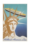 Holland America Lines Poster Giclee Print by Frans Mettes