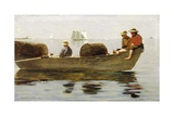 Three Boys in a Dory Giclee Print by Winslow Homer