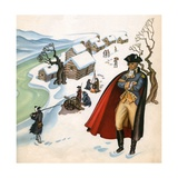 Illustration of George Washington at Valley Forge Giclee Print by Janice Holland