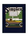 Advertisement for Simplex Automobiles Giclee Print by Louis Fancher