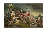 Postcard of the Death of General Warren at the Battle of Bunker Hill Giclee Print