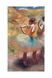Two Dancers in Green Skirts Giclee Print by Edgar Degas