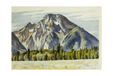 Mount Moran Giclee Print by Edward Hopper