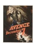 Avenge December 7 Poster Giclee Print by Bernard Perlin