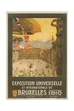 Exposition Universelle Et Internationale De Bruxelles Poster Giclee Print by Henri Cassiers