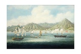 A View of Victoria, Hong Kong with British Ships and Other Vessels Giclee Print