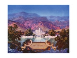 The Broadmoor, Colorado Springs Impression giclée par Maxfield Parrish