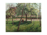 The Enclosure at Eragny Giclee Print by Camille Pissarro