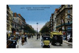 Color Print of Boulevard Montmartre, Paris Giclee Print
